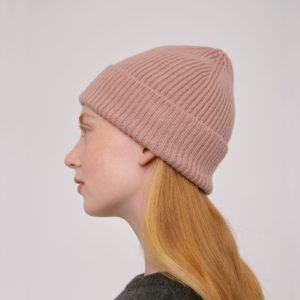 Organicbasics Unisex Recycled Wool Beanie Dusty Rose