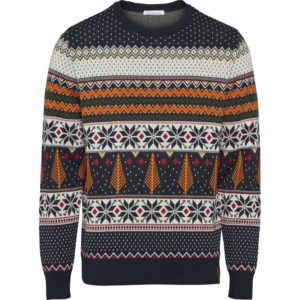 KnowledgeCotton Herren Pullover 80577 X-mas Knit