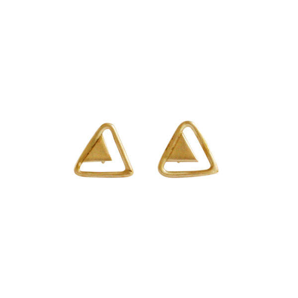 Ting Goods Ohrstecker double triangle