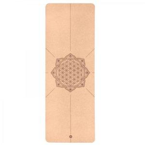 Bodynova Yogamatte Kork 4mm Blume des Lebens