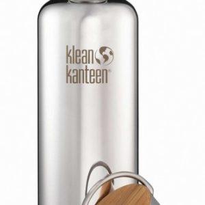 Klean Kanteen Flasche Reflect Edelstahl glänzend 800ml Bambus Cap