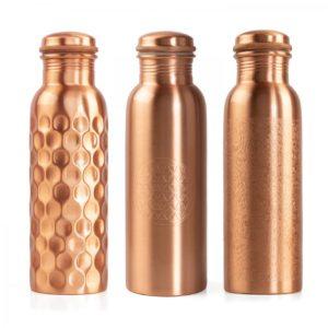 bodhi Kupfer Trinkflasche 800ml Schraubverschluss