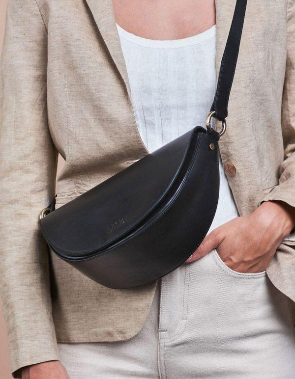 O My Bag Damen Handtasche Laura Black Classic