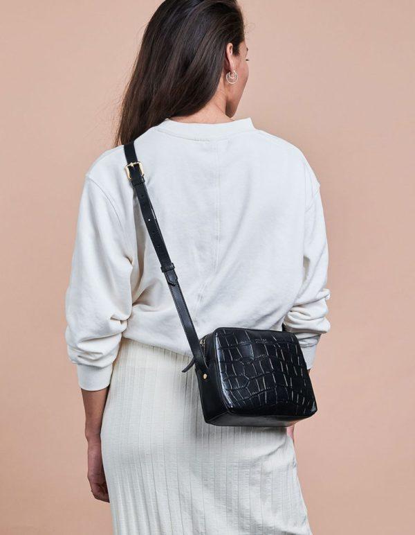 O My Bag Damen Handtasche Sue Black Croco
