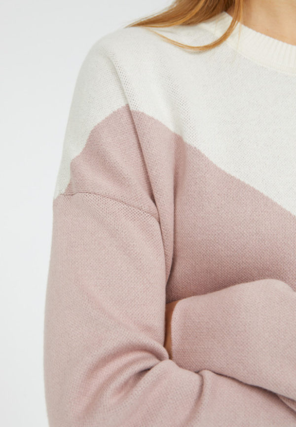 Armedangels Damen Pullover Dalilaa Graphics aubergine