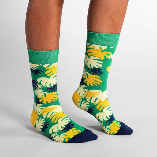 Dedicated Unisex Socken Sigtuna Monstera Green