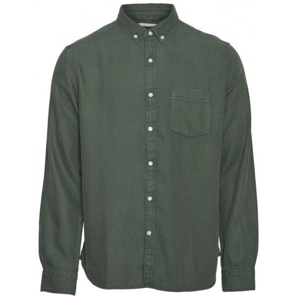 KnowledgeCotton Herren Hemd Larch LS tencel shirt 90686, versch. Farben