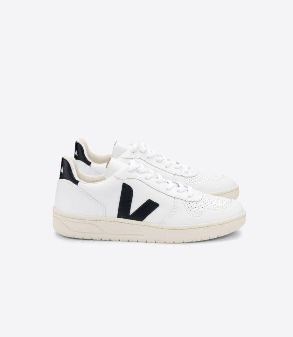 Veja Herren Schuhe V-10 Leather Extra-White Black