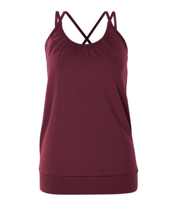 Jaya Damen Yoga Top Michelle burgundy