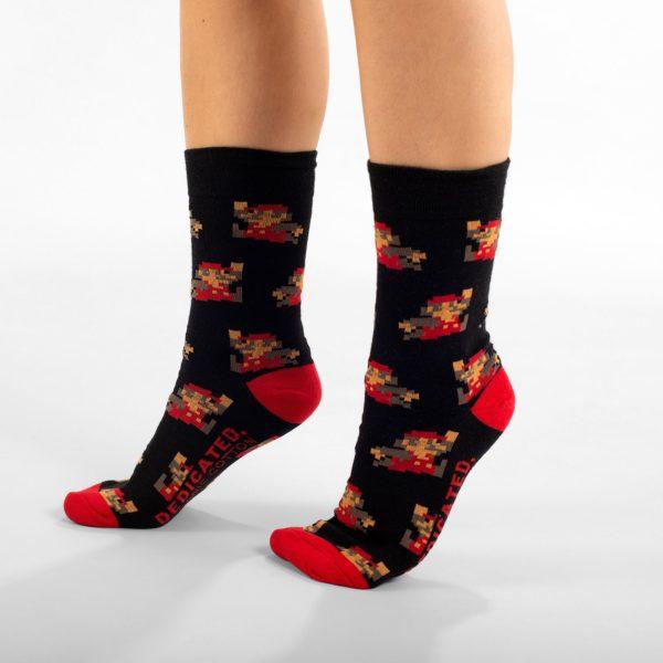 Dedicated Unisex Socken Super Mario Pattern black