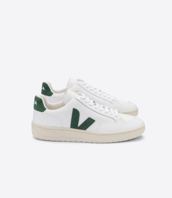 Veja Herren Schuhe V-12  Extra White / Cyprus