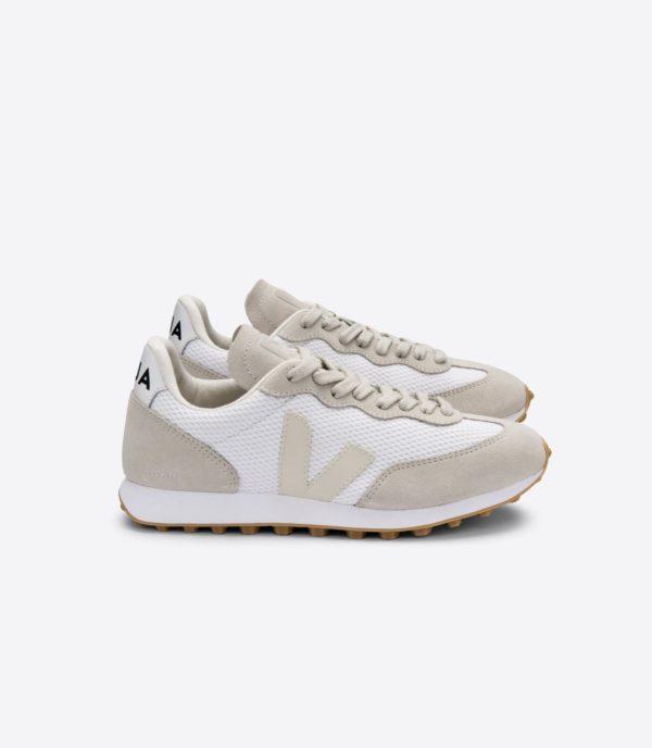 Veja Damen Schuhe Rio Branco Alveomesh white pierre natural