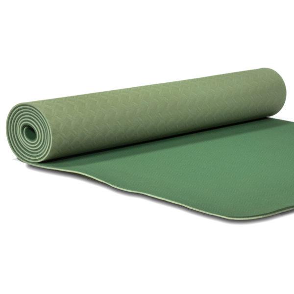 Phoenix Yogamatte Yogi & Yogini Premium TPE grün 5 mm