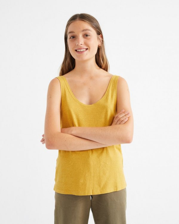 Thinking Mu Damen Tank Top Mustard Hemp