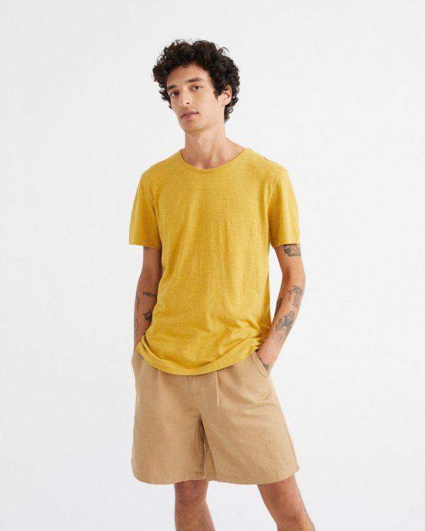 Thinking Mu Herren T-Shirt Hemp Mustard