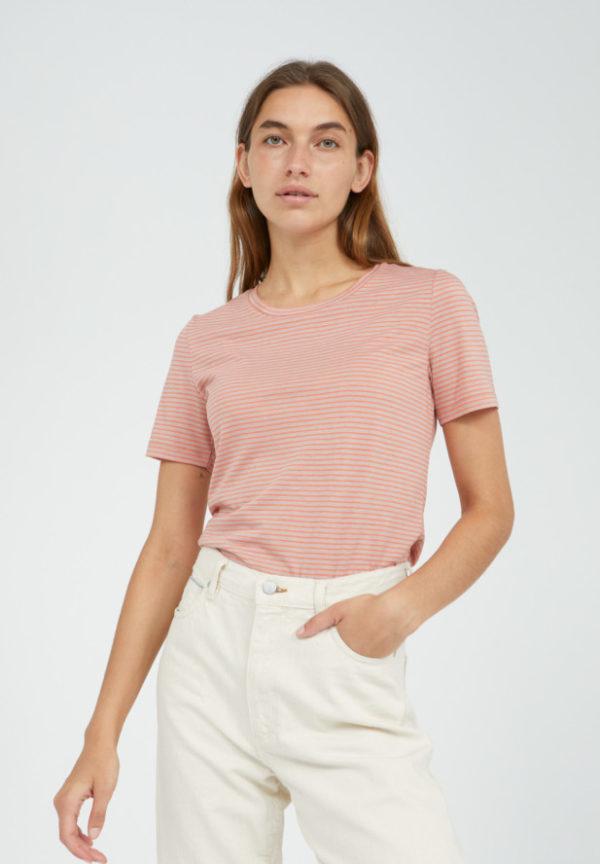 Armedangels Damen T-Shirt Lidiaa Small Stripes sunrise-kinoko