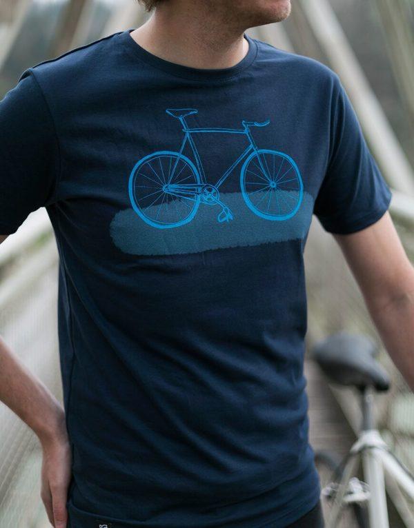 Zerum Herren T-Shirt Bike Fixie navy