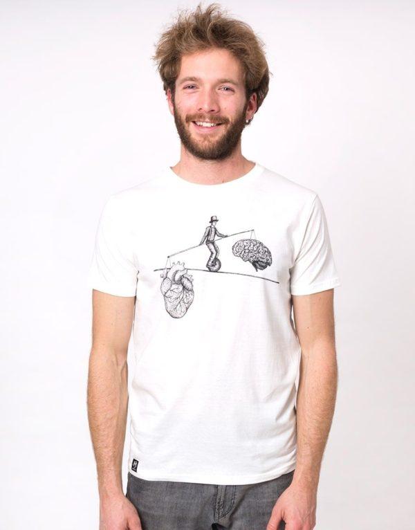 Zerum Herren T-Shirt Balance white