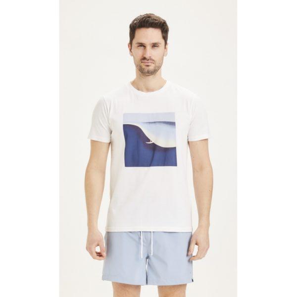 KnowledgeCotton Herren T-Shirt Alder Surf tee 10614 bright white