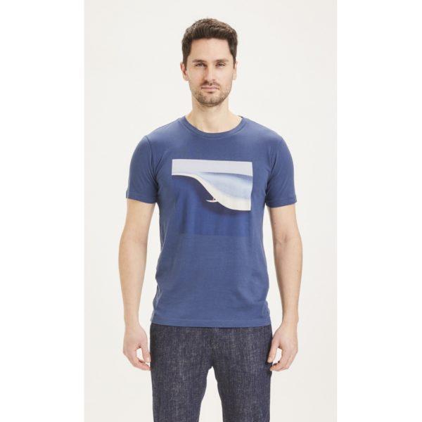 KnowledgeCotton Herren T-Shirt Alder Surf tee 10614 dark denim