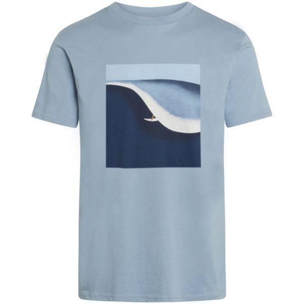 KnowledgeCotton Herren T-Shirt Alder Surf tee 10614 asley blue