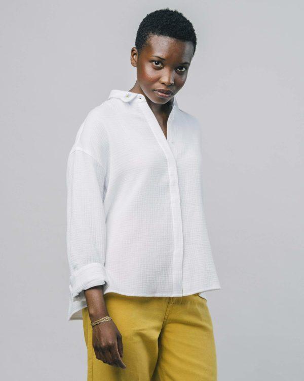 Brava Damen Bluse Pure White