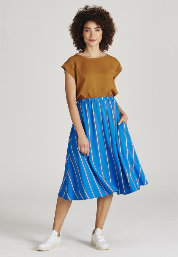 Givn Damen Rock Vana Blue / Brown Stripes