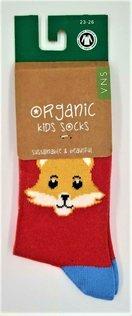 von VNS Organic Kinder Socken 1537 Cat Design