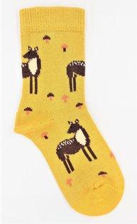 VNS Organic Kinder Socken 1546 Reh Yellow
