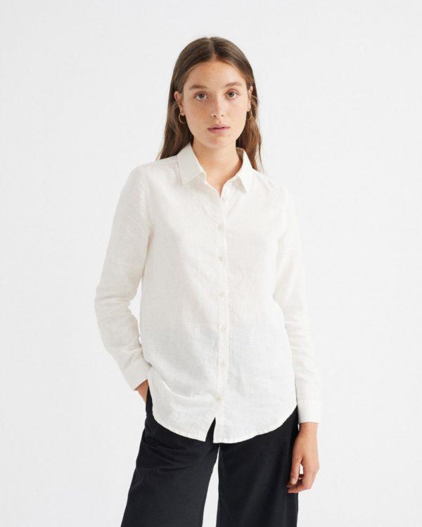 Thinking Mu Damen Bluse Mapple white Hemp