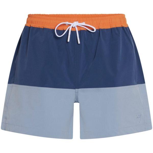 KnowledgeCotton Herren Swim Shorts Bay stretch blockdark denim 50210