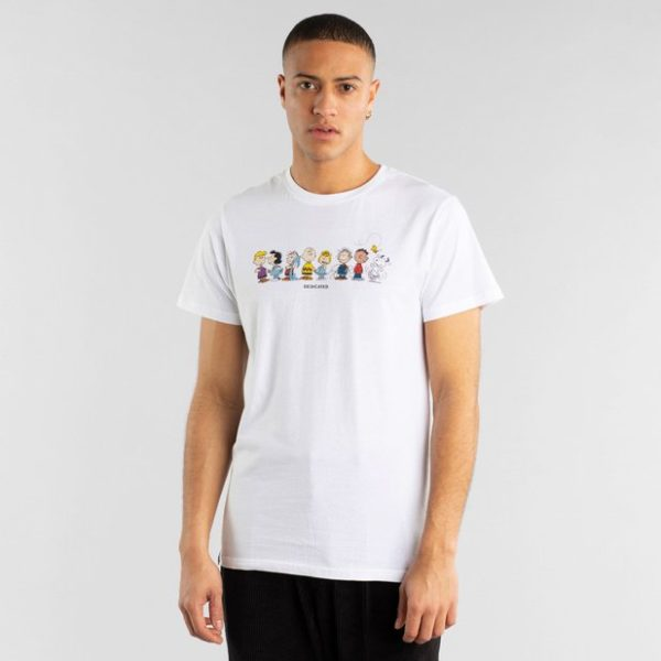 Dedicated Herren T-Shirt Stockholm Peanuts Crew white