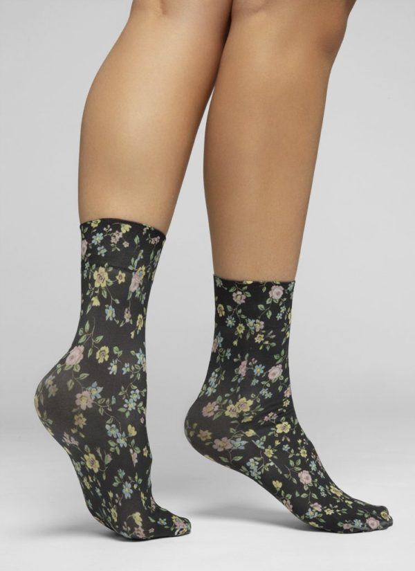 Swedish Stockings Damen Socken Ada Flower black/multi Onesize