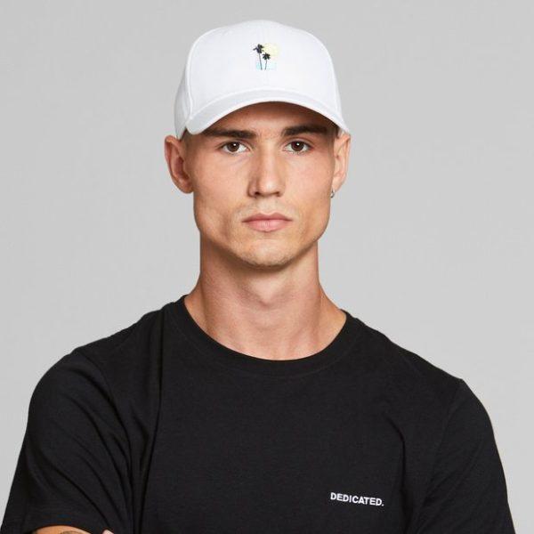 Dedicated Unisex Sport Cap Sunset Palm white