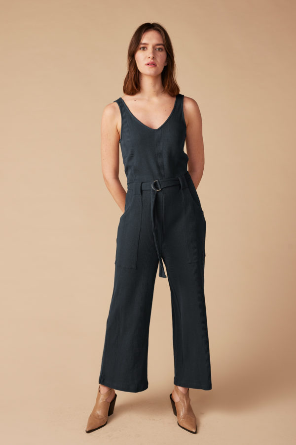 Lana Organic Damen Overall Prune nightblue