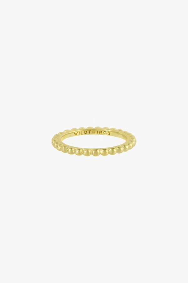 Wildthings Ring Small Dots Stacking gold