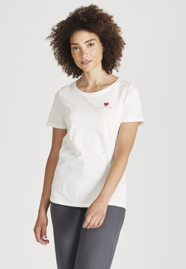 Givn Damen T-Shirt Lena Heart white