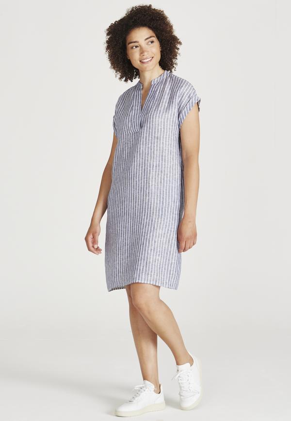 Givn Damen Kleid Bianca Stripes blue / white