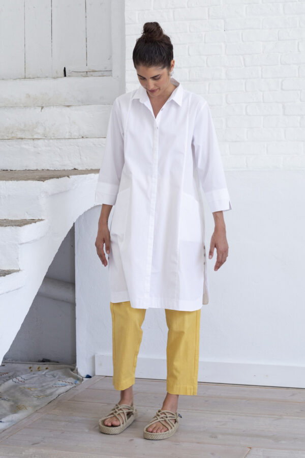 Suite 13 Damen Hemdblusen Kleid Selma white