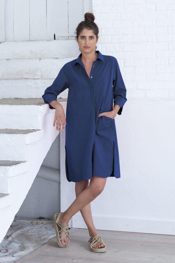 Suite 13 Damen Hemdblusen Kleid Selma twilight blue