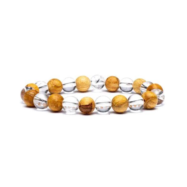 Phoenix Armband Bergkristall/Palo Santo
