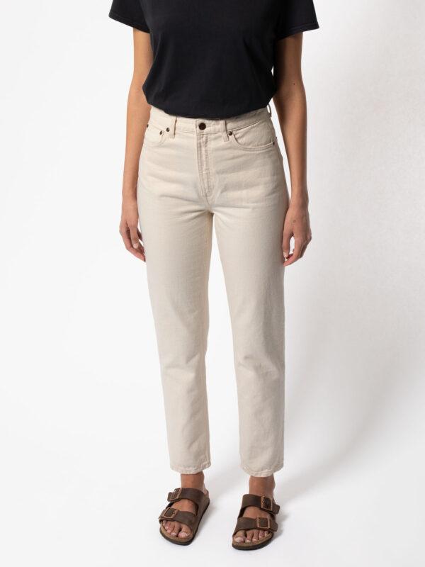 Nudie Jeans Damen Breezy Britt dusty white