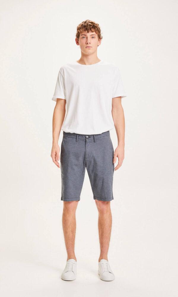 KnowledgeCotton Herren Shorts Chuck pattern 50215 total eclipse