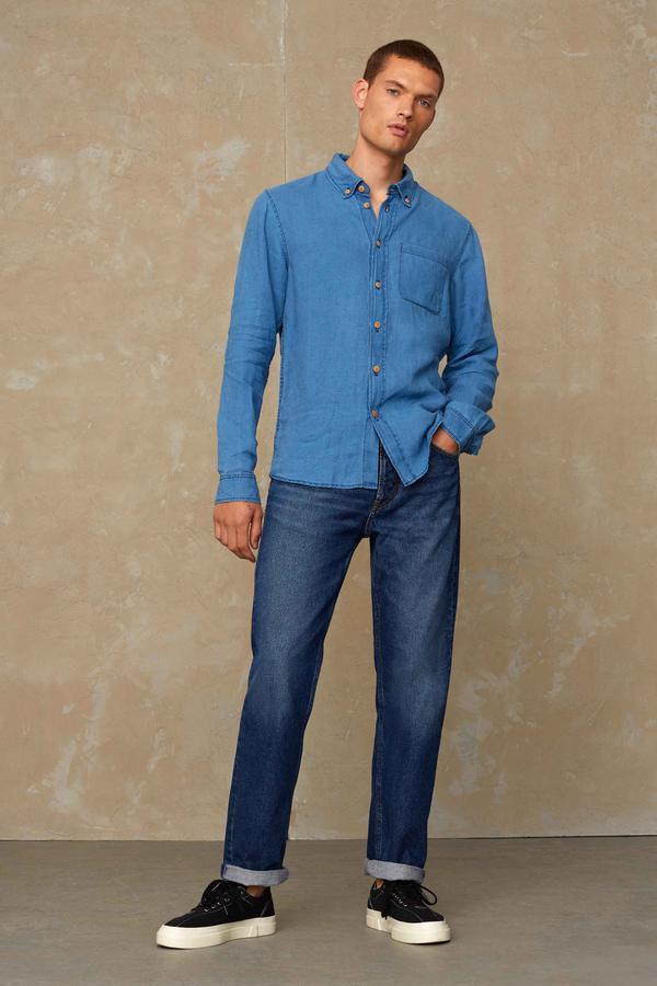 Kings of Indigo Herren Jeans Kong pure indigo worn