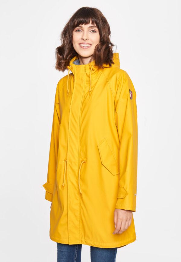 Derbe Damen Jacke Tidaholm gefüttert yellow off white