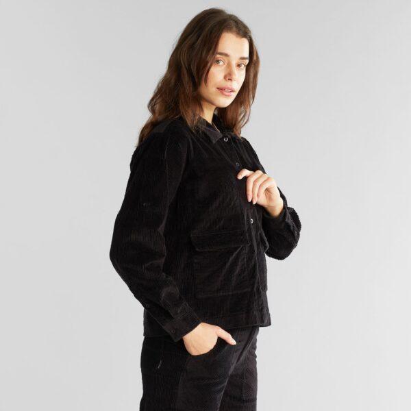 Dedicated Damen Jacke Cord Lima Black