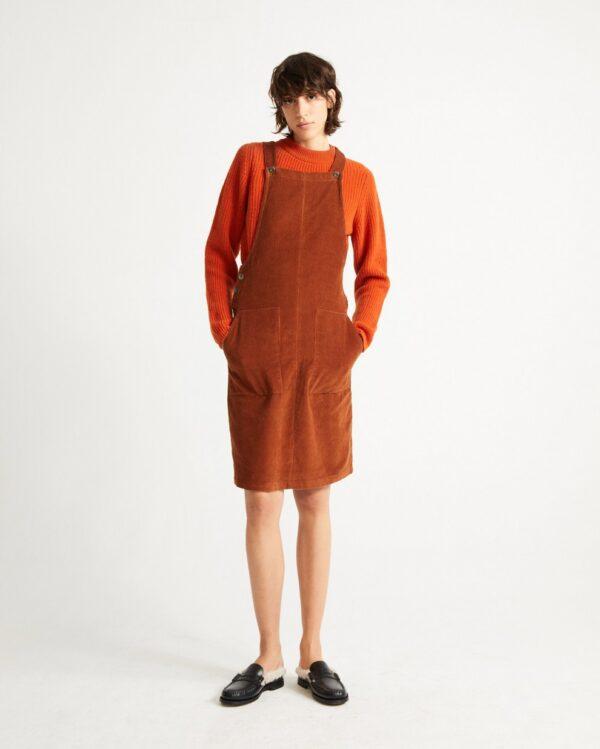 Thinking Mu Damen Kleid Clay Red Bell